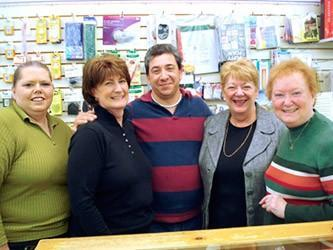 Staff, left to right: Kelley, Sue, John, Joyce, Betty and missing, Geri