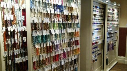 Come in to check out the extensive list of threads that we carry in both cottons and silks!